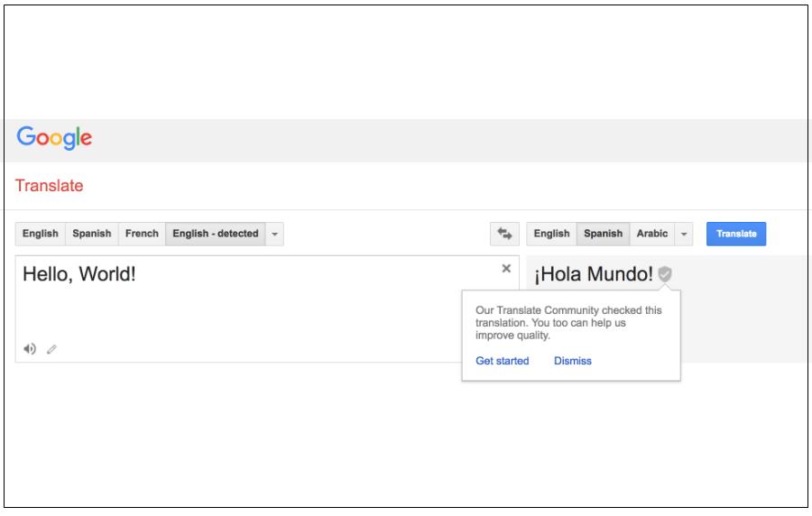 Spanish english to google translate